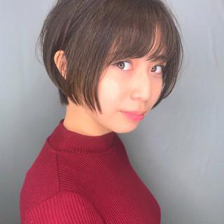 デート ナチュラル 簡単スタイリング ショート ヘアスタイルや髪型の写真・画像
