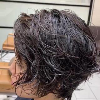 阿藤俊也 PEEK-A-BOO パーマ ハンサムショート ヘアスタイルや髪型の写真・画像