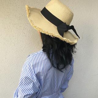 インナーカラー 外国人風カラー セミロング ダブルカラー ヘアスタイルや髪型の写真・画像