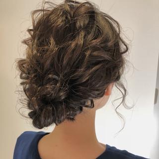 夏 パーティ ロング ヘアアレンジ ヘアスタイルや髪型の写真・画像