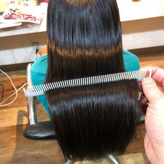 髪質改善トリートメント 髪質改善 髪質改善カラー ロング ヘアスタイルや髪型の写真・画像