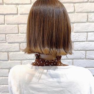デート ナチュラル ボブ ミニボブ ヘアスタイルや髪型の写真・画像