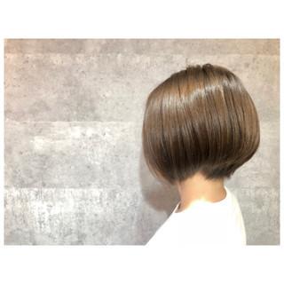 ボブ 小顔 ナチュラル 似合わせ ヘアスタイルや髪型の写真・画像
