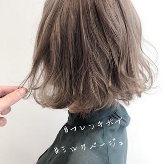 ミニボブ ボブ 切りっぱなしボブ インナーカラー ヘアスタイルや髪型の写真・画像