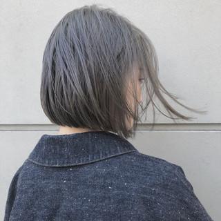 大人かわいい ストリート ボブ グレージュ ヘアスタイルや髪型の写真・画像 ヘアスタイルや髪型の写真・画像