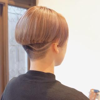 小顔ショート ショート 刈り上げショート モード ヘアスタイルや髪型の写真・画像