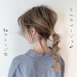 ハイライト ガーリー ロング バレイヤージュ ヘアスタイルや髪型の写真・画像