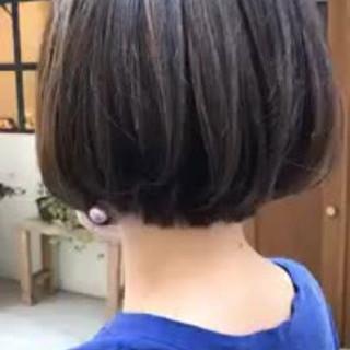 モード ハイライト デート ボブ ヘアスタイルや髪型の写真・画像
