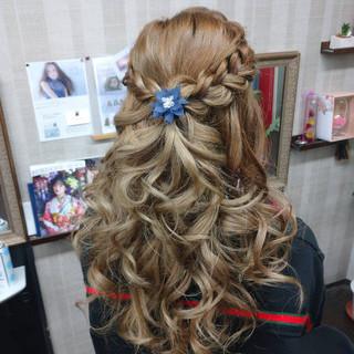 ヘアアレンジ 結婚式ヘアアレンジ ナチュラル 結婚式髪型 ヘアスタイルや髪型の写真・画像