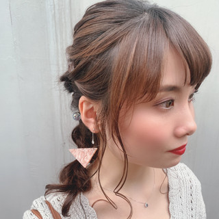 ヘアアレンジ 簡単ヘアアレンジ ロング かわいい ヘアスタイルや髪型の写真・画像