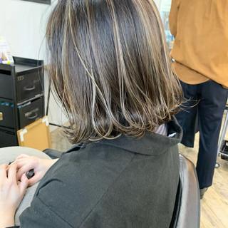 ハイライト 3Dハイライト ナチュラル コントラストハイライト ヘアスタイルや髪型の写真・画像