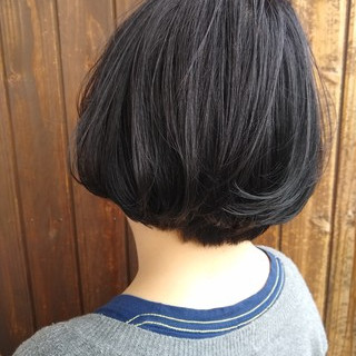 ナチュラル ワンカール ボブ ヘアスタイルや髪型の写真・画像 | 北野陽平 / holm hair