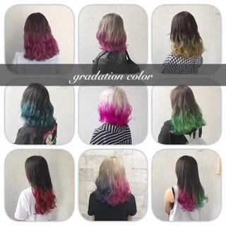 カラーバター グラデーションカラー ハイトーン ダブルカラー ヘアスタイルや髪型の写真・画像