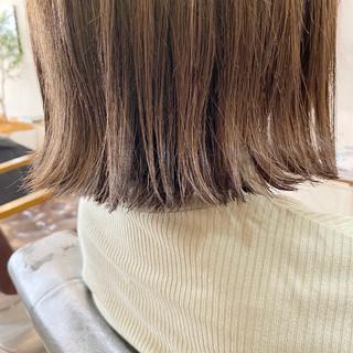 切りっぱなしボブ 透明感 ボブ ナチュラル ヘアスタイルや髪型の写真・画像