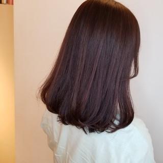 切りっぱなしボブ ナチュラル 韓国ヘア 韓国風ヘアー ヘアスタイルや髪型の写真・画像