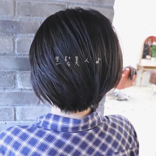 オフィス エレガント 黒髪 ショート ヘアスタイルや髪型の写真・画像