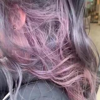 フェミニン ラベンダーピンク 春ヘア ラベンダーカラー ヘアスタイルや髪型の写真・画像