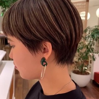 モード 外国人風カラー ヘアカラー 3Dハイライト ヘアスタイルや髪型の写真・画像