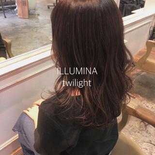 ロング アディクシーカラー パーマ ヘアアレンジ ヘアスタイルや髪型の写真・画像