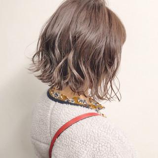 ボブ オフィス ヘアアレンジ ナチュラル ヘアスタイルや髪型の写真・画像