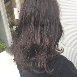 グレージュ スモーキーカラー ピンク ラベンダー ヘアスタイルや髪型の写真・画像 ヘアスタイルや髪型の写真・画像