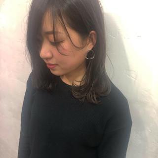 黒髪 オシャレ 透け感ヘア 抜け感 ヘアスタイルや髪型の写真・画像