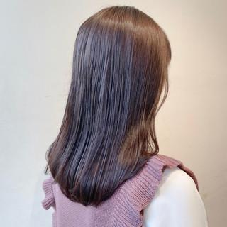 ナチュラル ブリーチなし ラベンダーグレージュ ピンクラベンダー ヘアスタイルや髪型の写真・画像