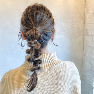 お呼ばれヘア ヘアセット ゆるふわセット 編みおろしヘア ヘアスタイルや髪型の写真・画像