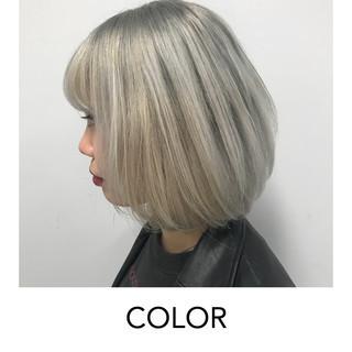 ブリーチオンカラー 原宿 ストリート イメチェン ヘアスタイルや髪型の写真・画像