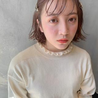 ナチュラル 透明感 ショートボブ ミニボブ ヘアスタイルや髪型の写真・画像