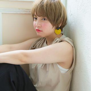 大人かわいい 夏 ヘアアレンジ ショート ヘアスタイルや髪型の写真・画像