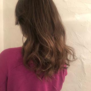 ロング デート 外国人風 エレガント ヘアスタイルや髪型の写真・画像