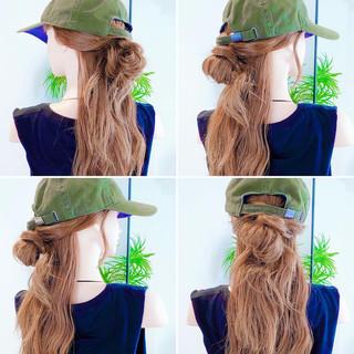 ヘアセット セルフヘアアレンジ ヘアアレンジ お団子アレンジ ヘアスタイルや髪型の写真・画像