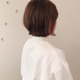 ナチュラル ベリーショート ショートボブ ミディアム ヘアスタイルや髪型の写真・画像