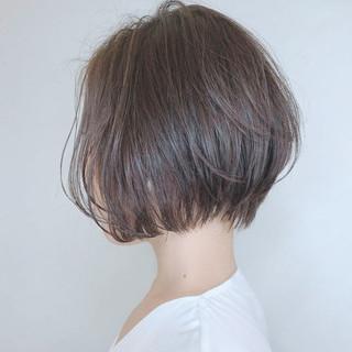 デート ショートボブ ショート 小顔ショート ヘアスタイルや髪型の写真・画像