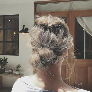 涼しげ ヘアアレンジ 夏 デート ヘアスタイルや髪型の写真・画像