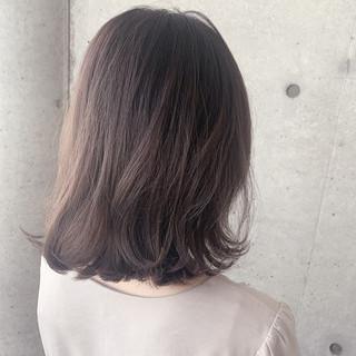 透明感カラー ラベンダーカラー ミディアム ブリーチ必須 ヘアスタイルや髪型の写真・画像