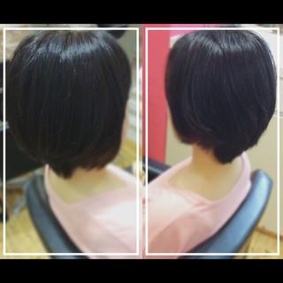 黒髪 大人ヘアスタイル ナチュラル 艶髪 ヘアスタイルや髪型の写真・画像