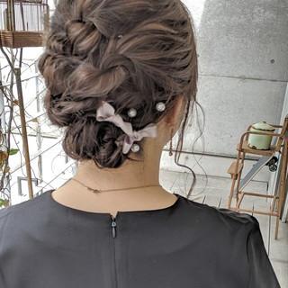 ミディアム ガーリー ヘアアレンジ 簡単ヘアアレンジ ヘアスタイルや髪型の写真・画像