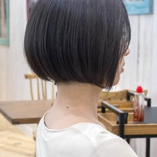 フェミニン ショートボブ 大人かわいい ミニボブ ヘアスタイルや髪型の写真・画像