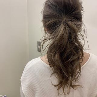 デート ゆるふわ 簡単ヘアアレンジ ナチュラル ヘアスタイルや髪型の写真・画像