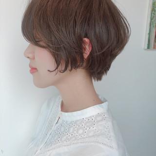 ショート ショートヘア ハンサムショート 小顔ショート ヘアスタイルや髪型の写真・画像