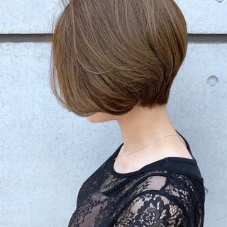 ボブ 刈り上げショート ミニボブ 丸みショート ヘアスタイルや髪型の写真・画像