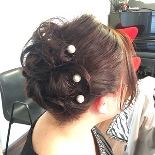 ミディアム 結婚式 エレガント 卒業式 ヘアスタイルや髪型の写真・画像