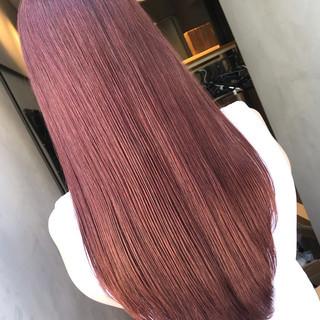 ラベンダーピンク ベージュ ベリーピンク ピンク ヘアスタイルや髪型の写真・画像
