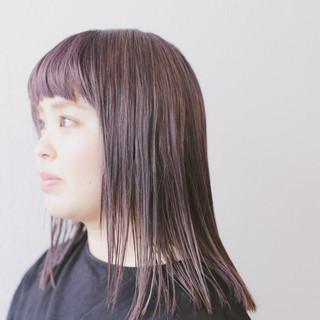 グレージュ ラベンダーグレー 透明感 デザインカラー ヘアスタイルや髪型の写真・画像