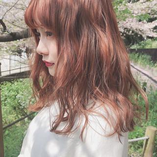 ヘアアレンジ アプリコットオレンジ オレンジベージュ 簡単ヘアアレンジ ヘアスタイルや髪型の写真・画像 ヘアスタイルや髪型の写真・画像