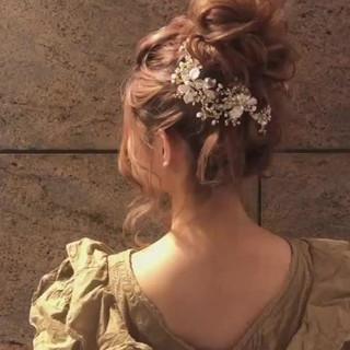 デート 簡単ヘアアレンジ 結婚式 ロング ヘアスタイルや髪型の写真・画像