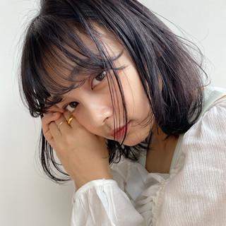 小顔 ミディアム 大人ミディアム 透明感カラー ヘアスタイルや髪型の写真・画像