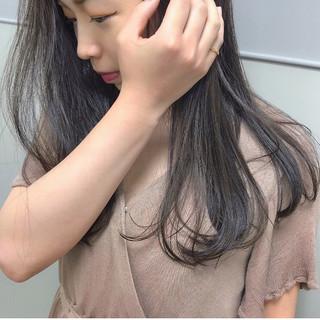 ナチュラル カジュアル ヘアアレンジ セミロング ヘアスタイルや髪型の写真・画像